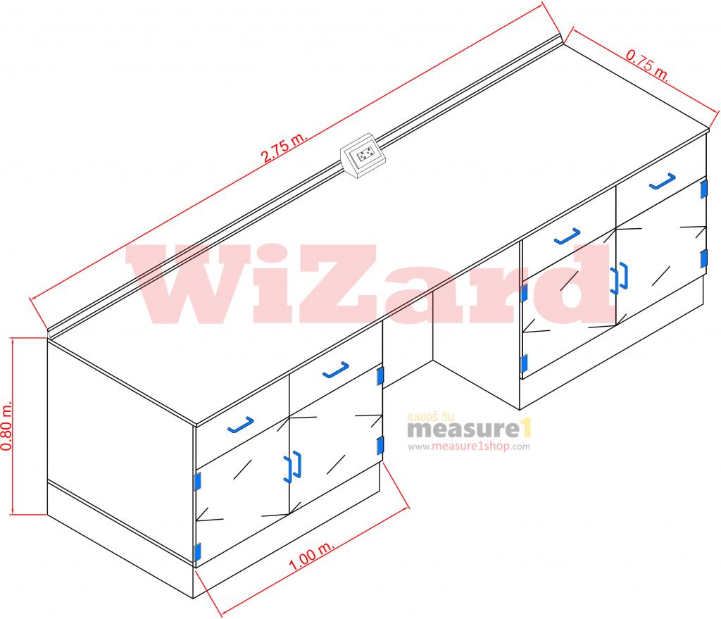 โต๊ะปฏิบัติการติดผนัง WZ-02 wizard