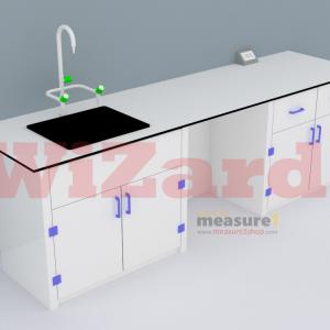 โต๊ะปฏิบัติการติดผนัง พร้อมอ่างน้ำ WZ-10